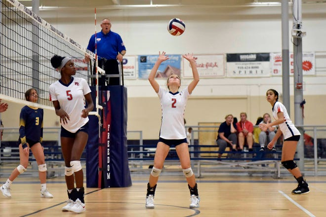 Freedom Christian's Hannah Wilson (2) has been named the NCISAA Sandhills Conference Volleyball Player of the Year for the 2020-21 season.