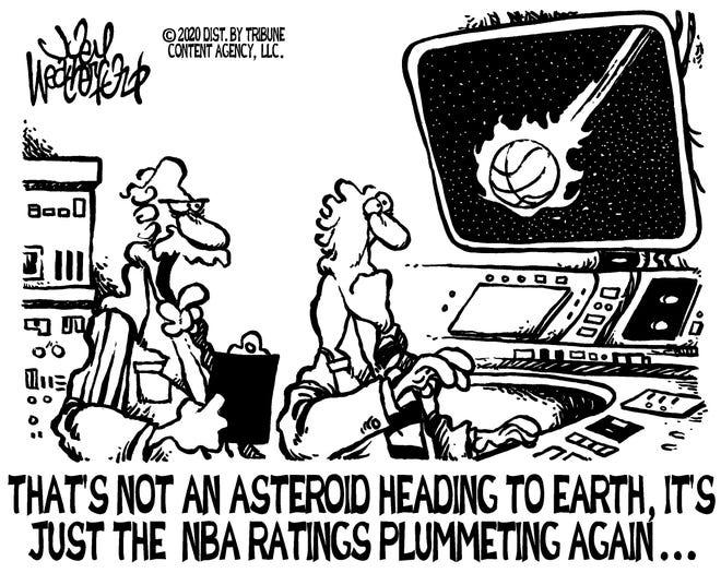 NBA ratings down in flames. Joel Weatherford.