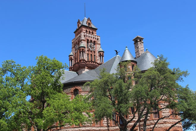 The Ellis County Historic Courthouse.