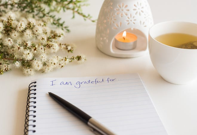 Writing down what you're grateful for can be a way to practice gratitude.