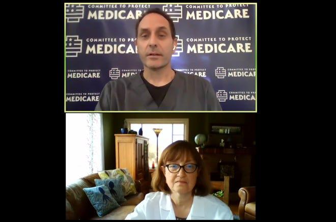 Doctors Rob Davidson and Susan Fabrick.