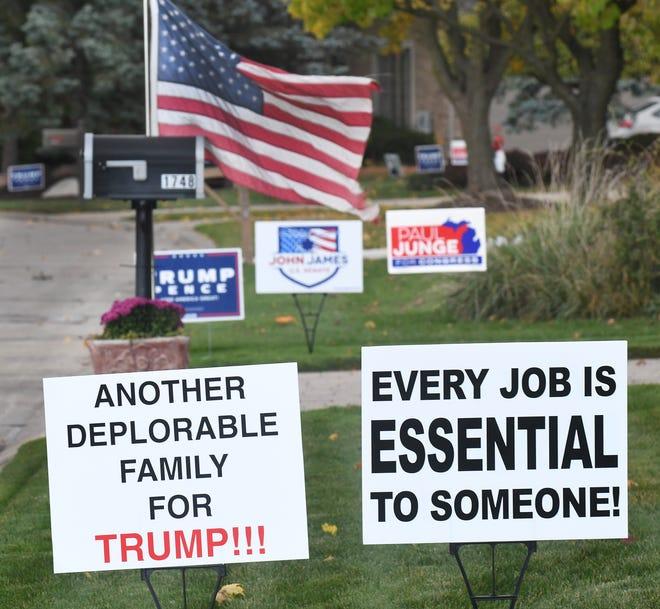 This Oakland County City Becomes Biden Trump Yard Sign Battleground