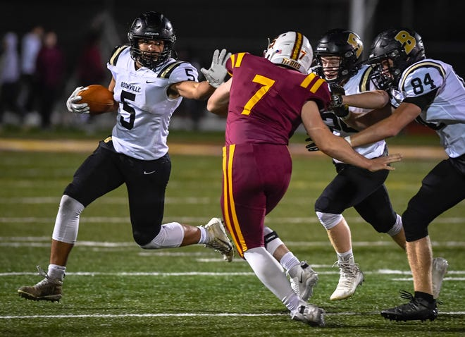 Boonville's Devin Mockobee (5) was one of three area standouts named to the IFCA's Top 50 all-staters, regardless of class.