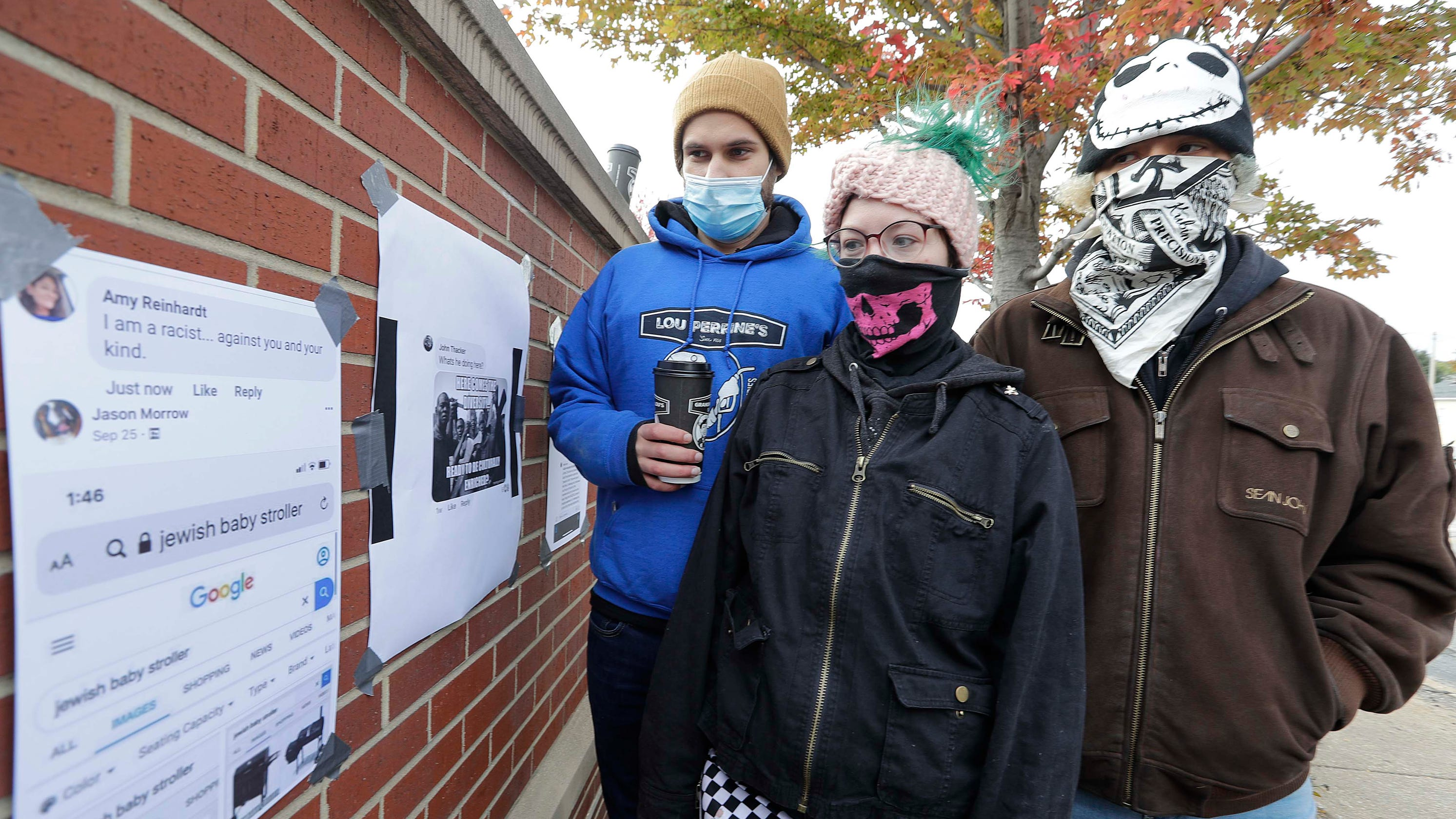 'People get brave behind a keyboard,' real-life Facebook wall created by Kenosha protesters from disturbing posts