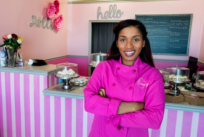 Dee Dee Crenshaw, owner of Cakeology cake shop in Montgomery, Ala., is seen at the shop on Friday October 16, 2020.