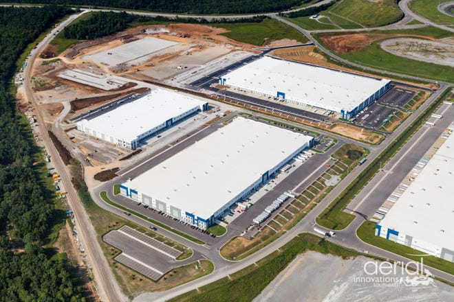 An aerial view of Speedway Industrial Park in Wilson County.