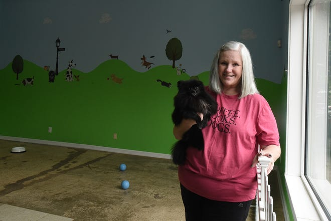 Danielle Wilson named the dog day care half of her business after her Pomeranian, Fia. Fia's Canine Day Care Center and Bath & Biscuits, on 1805 Columbus Road in Granville, offers Wilson a chance to work everyday with pets and their owners.