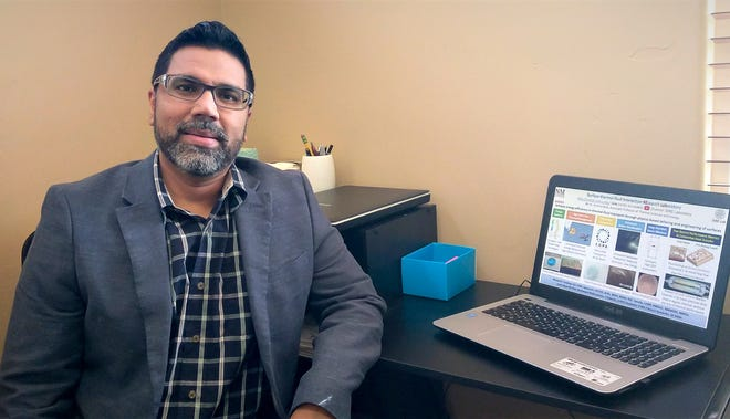 Krishna Kota, New Mexico State University College of Engineering associate professor, has received a Defense University Research Instrumentation Program grant, which will be used to purchase equipment for conducting research on the cooling of directed-energy weapons.