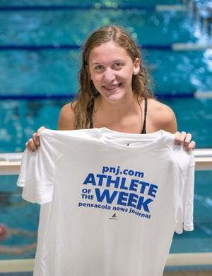 Athlete of the Week - swimmer Paige Bridges of Booker T. Washington High School in Pensacola on Thursday, Oct. 15, 2020.