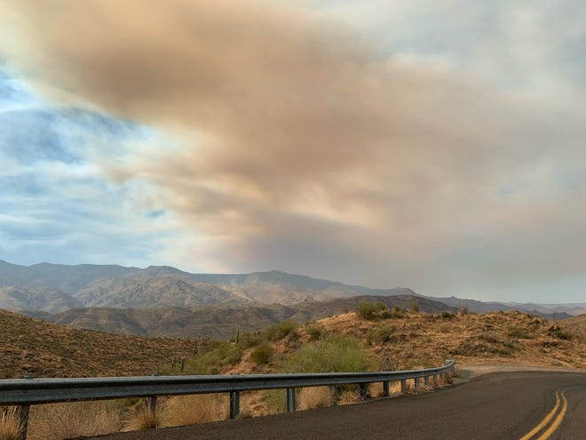 The Horse Fire as seen from Bumblebee Road on Oct. 16, 2020.