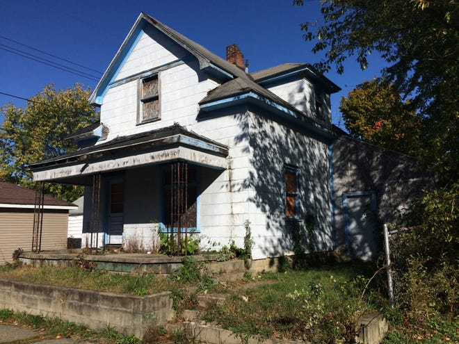 The house and outbuilding at 2014 N. C St. will be demolished by Mikesell Excavating under a contract approved Thursday by Richmond's Board of Public Works and Safety.