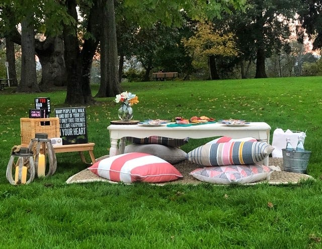 Picnic Perfections is Stephanie Ward-Sosa's professional picnic planning business, the first of its kind in Salem.