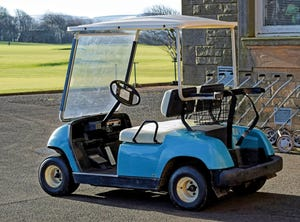 A golf cart, similar to one seen in this stock image, played a role in a lawsuit filed against the Leon County school district.