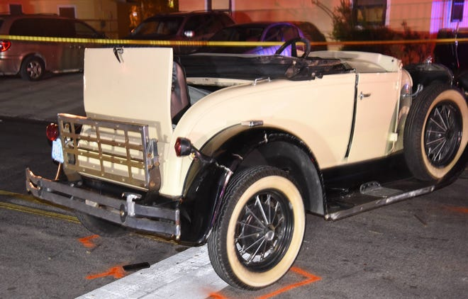 Seven people were thrown out of a 1980 Shay Ford Model A Roadster Convertible Thursday night. Three children are in serious condition following the incident.