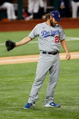 Clayton Kershaw allowed four earned runs in five innings in Game 4.