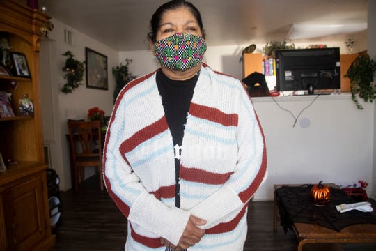 Maria Guadalupe Ortega Valladarez worked in the fields of Imperial County for 40 years. She was infected with COVID-19 and was hospitalized due to medical complications. She has partially lost her sight due to diabetes that she didn't attend for years.