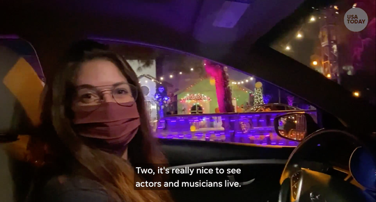 USA TODAY reporter Carly Mallenbaum tours a drive-thru Halloween experience in Los Angeles.