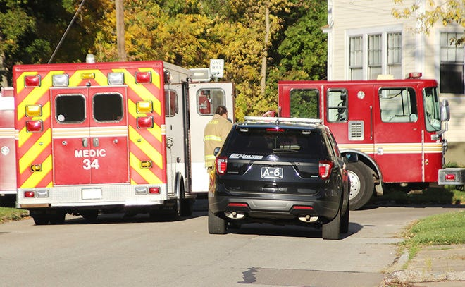 Ashland Fire and Police departments respond to a gas leak Saturday morning in the city.