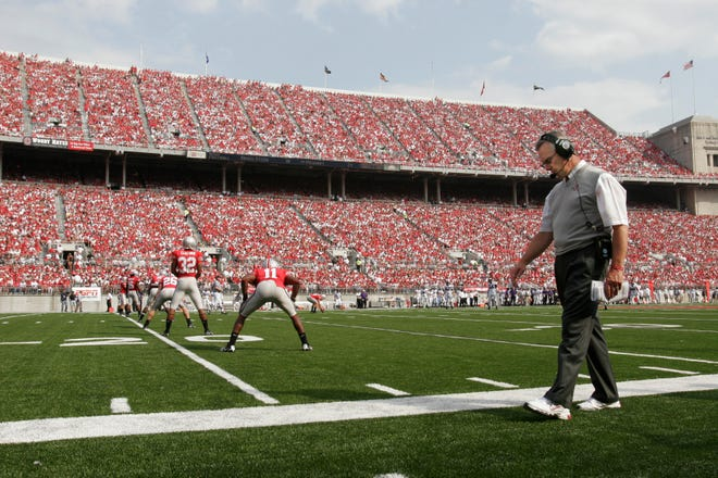 On the field or off, the pressure rarely lets up for the head coach of the Ohio State football team, as Jim Tressel learned in his 10-season tenure in the 2000s.