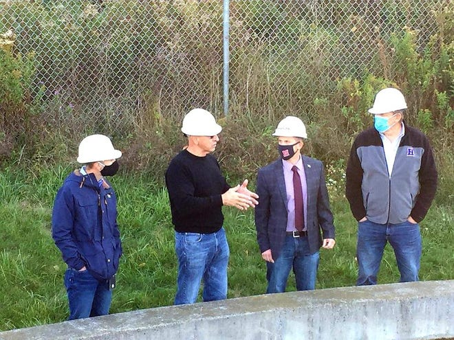 From left to right: Public Works Commissioner Jared Zigenfus, Chief Water Operator Lenny Fucci, Mayor John Buckley and Commissioner Joe Liberto during a Thursday tour of Hornell water infrastructure.