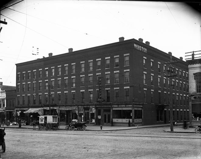The Webster House at the corner of Coach and South Main Streets circa 1920s.
