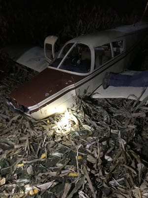 The pilot of this airplane made an emergency landing in a cornfield north of Sebring Friday evening. The pilot wasn't injured.