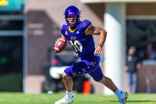 ECU freshman quarterback Mason Garcia got his first start in a 27-23 loss to Navy.