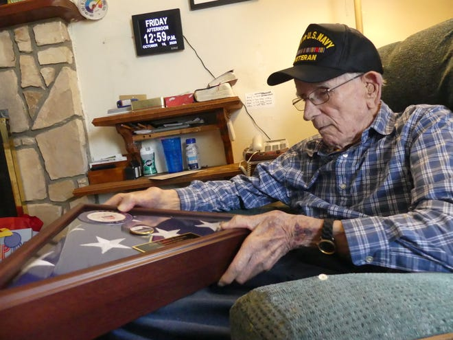 U.S. Navy veteran Luther Edward Dixon, who served aboard the USS Mississippi when the ship responded to the Japanese attack on Pearl Harbor in 1941, recently turned 100 in Hesperia.