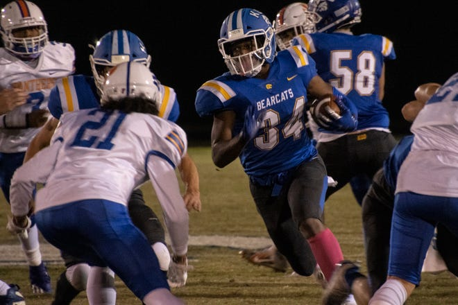 Running back EJ Dickerson had his way against the Frankfort defense on Friday night as Kentucky Country Day rolled to a 42-16 victory. 10/16/20