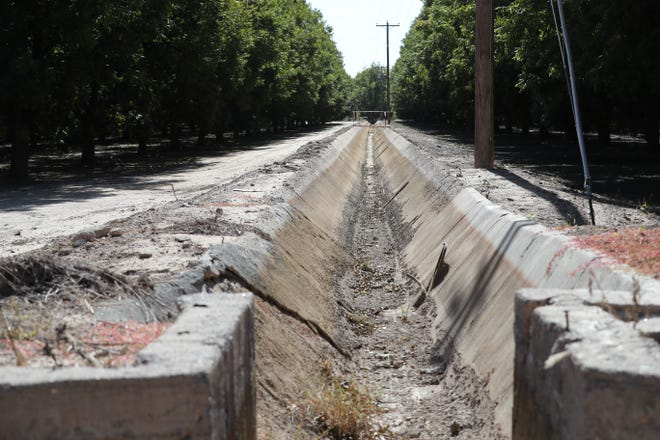 An irrigation canal near the Rio Grande south of Las Cruces sits dry on Saturday, Oct. 17, 2020. Without monsoon rains and predictions for a dry and warm winter, the 2021 water forecast is dire.