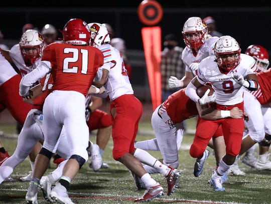 The Ozark Tigers and the Webb City Cardinals faced off at Ozark High School on Oct. 16, 2020.