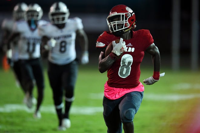 Vero Beach High School hosted Fort Pierce Westwood on Friday, Oct. 16, 2020, for a football game at the Citrus Bowl. Vero Beach won the game 49-12.