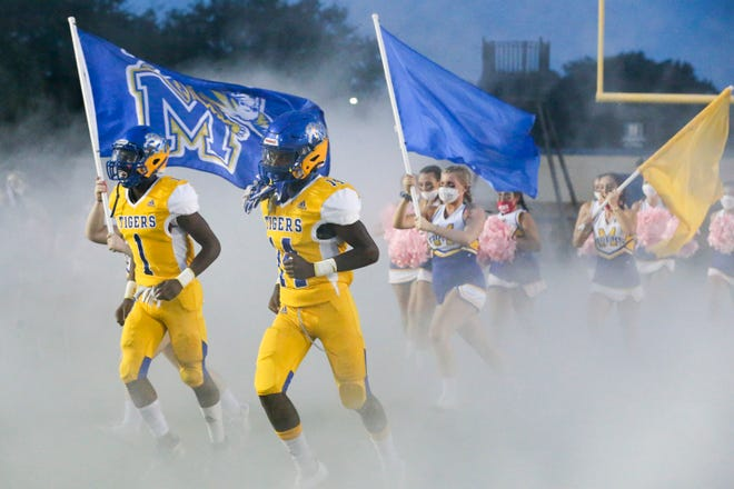 Martin County plays against South Fork during the Martin Bowl 37 high school football game at Martin County High School on Friday, Oct. 16, 2020, in Stuart.