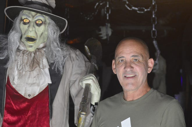 Every year, Visalia resident Mike Flores decorates his home in a Halloween theme.