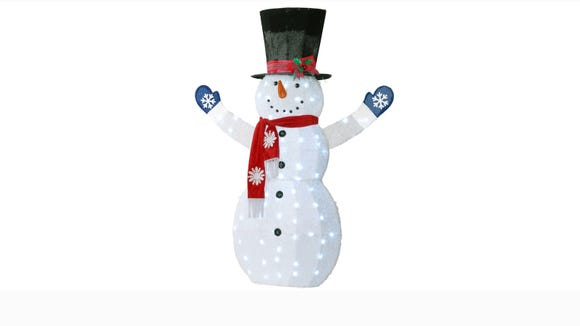 This snowman is here to spread a little holiday cheer.