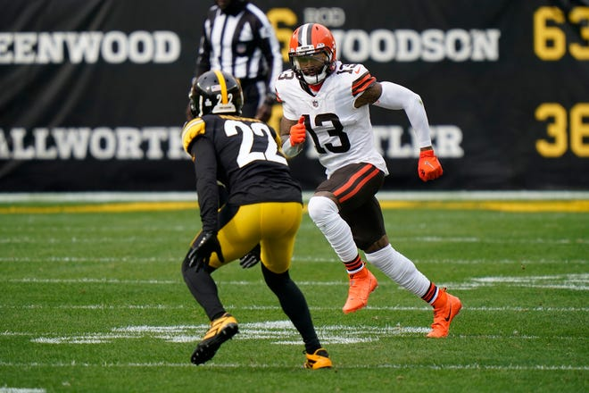 """Browns WR Odell Beckham Jr. will be a participant in the """"Jarvis Landry & Friends Celebrity Softball Game"""" Saturday at 2 p.m. at Classic Park in Eastlake. Gates open at 2 p.m."""