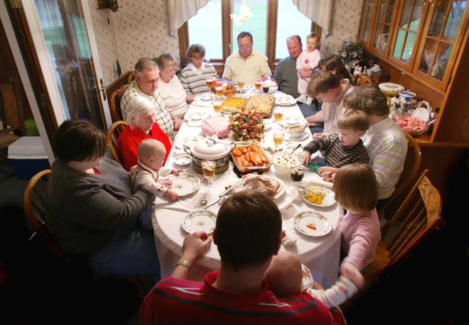 Large family gatherings over the holidays may not be wise, health experts say, as the coronavirus pandemic continues. [File photo]