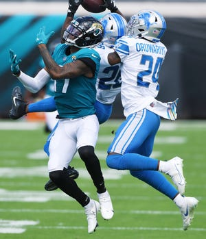 Jaguars were unable to overcome another mistake-filled effort losing to the Lions 34-16 Sunday. Bob Self/Florida Times-Union
