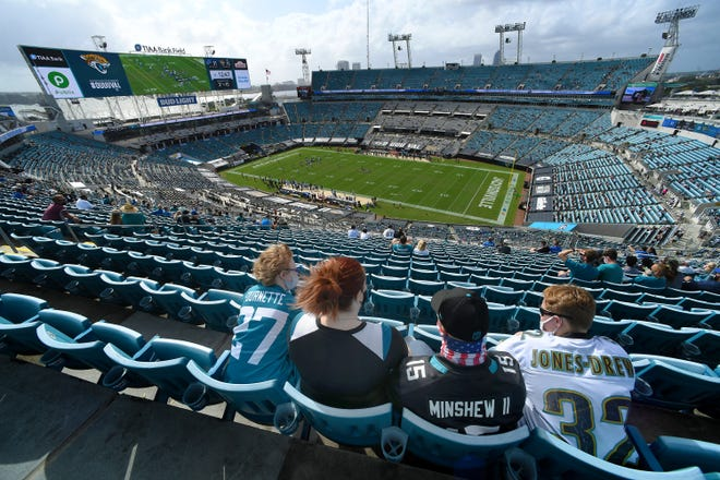 """The city and the Jaguars have started a multi-year study of what the """"stadium of the future"""" should look like and what it would cost. The COVID-19 pandemic has meant smaller crowds this season for Jaguars games at city-owned TIAA Bank Field."""