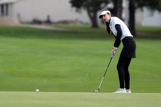 Senior Kate Kramer led the Columbus School for Girls golf team in the Division II state tournament Oct. 16 and 17 at Ohio State's Gray Course. Kramer finished 12th and the Unicorns placed fourth as a team.