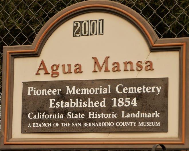 A plaque dedicated to Agua Mansa, California Historical Landmark No. 121.