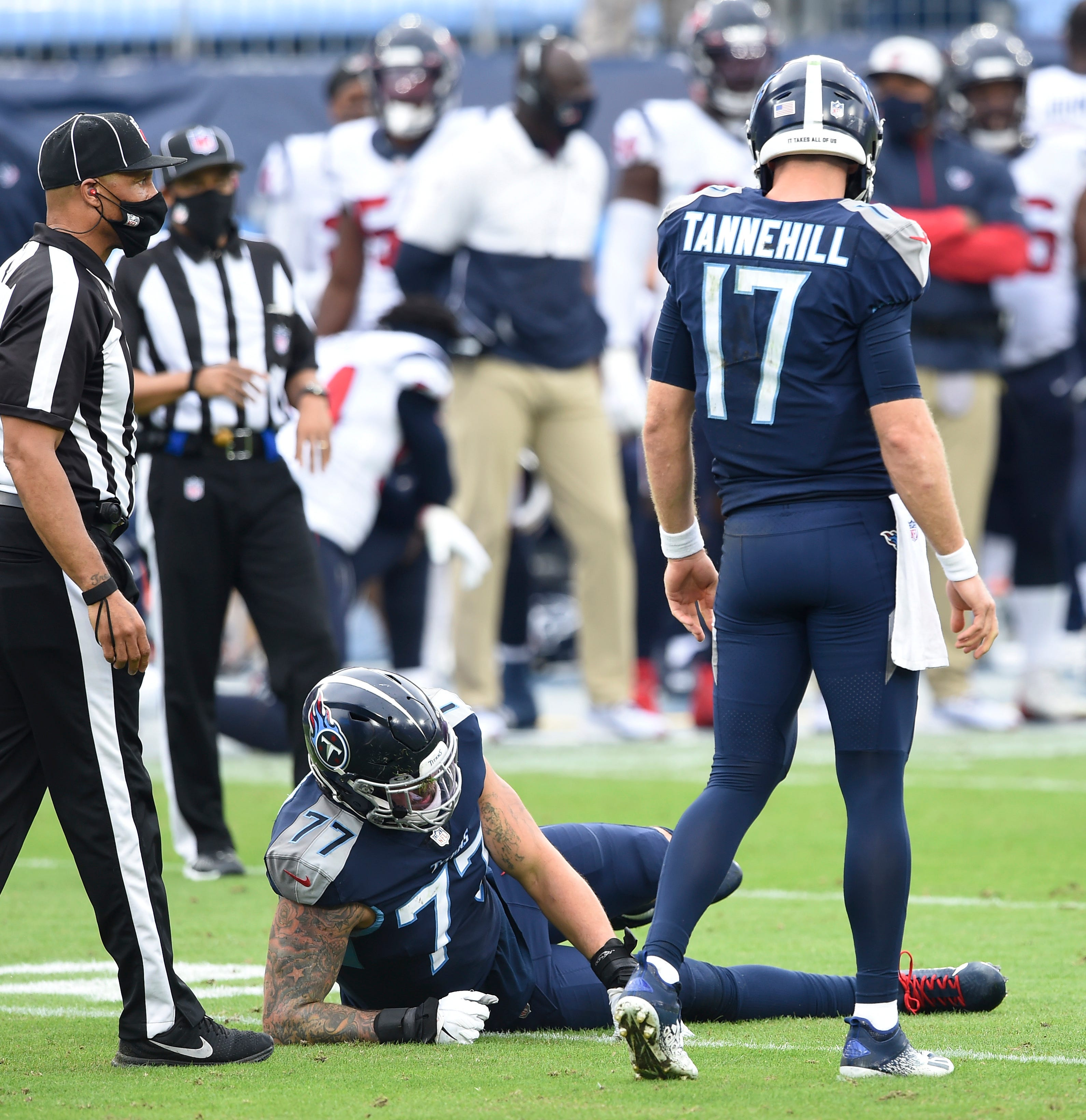 Titans left tackle Taylor Lewan confirms he suffered torn ACL
