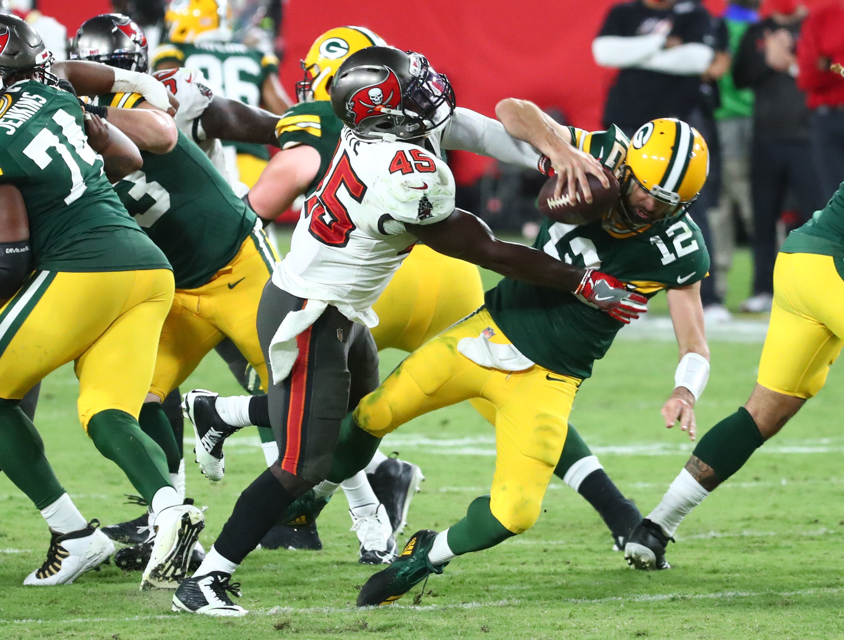 Green Bay Packers Buccaneers Make Good On Vow To Force Mistakes