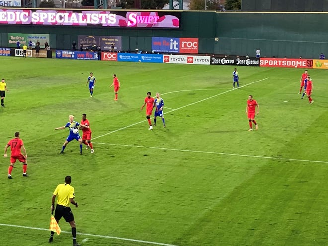 Reno 1868 FC played Phoenix Rising in the USL Western Conference playoffs on Saturday at Greater Nevada Field in Reno.