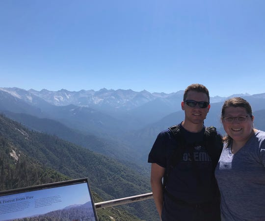 Lance and Lauren Hicks at Moro Rock in California this summer.