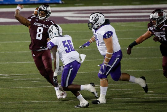 Missouri State took on the University of Central Arkansas in their home opener at Plaster Stadium on Saturday, Oct. 17, 2020.