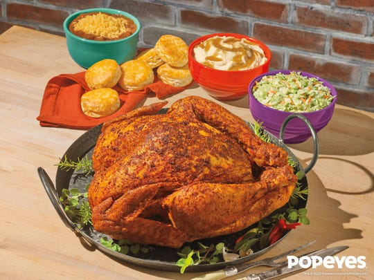Popeyes returns his Cajun Style Turkey for Thanksgiving.