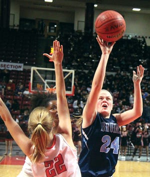 Jena' Williams brought total focus to the court during her years at Bartlesville High School.