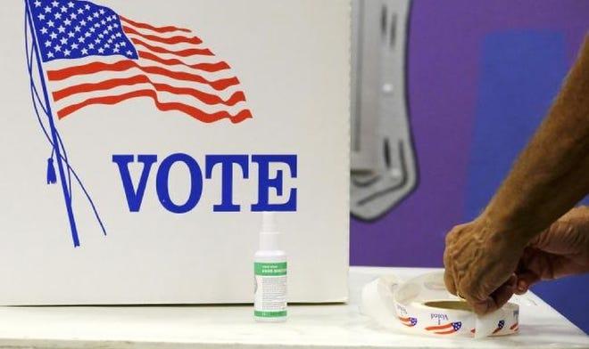 Voting at Precinct 61 in Edmond, Tuesday, August 25, 2020. Doug Hoke/The Oklahoman