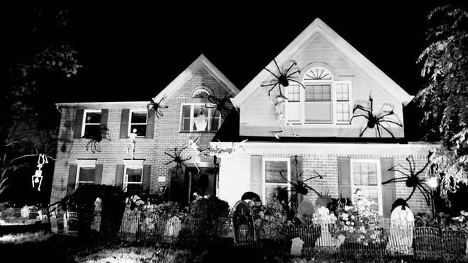 Krista Rolwing's Gahanna home is, for some reason, known as the Spider House this time of year. Neighborhood kids start asking in September when the spiders will reappear, said Rolwing, 58.